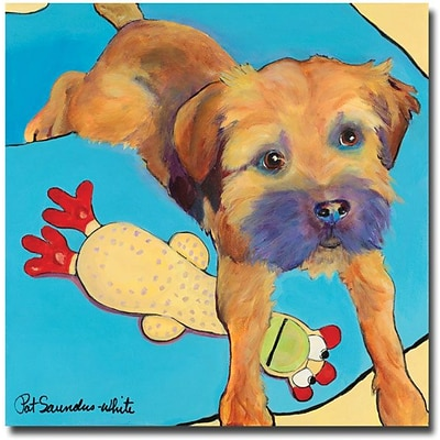 Trademark Global Pat Saunders White Favorite Toy Canvas Art, 35 x 35