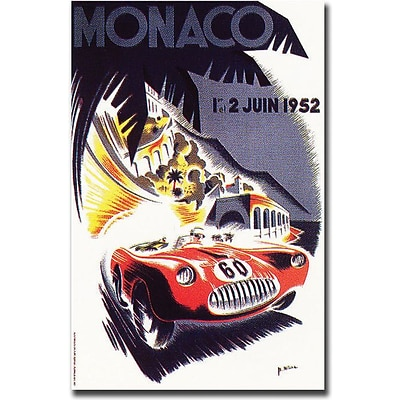 Trademark Global George Ham Monaco 1952 Canvas Art, 32 x 26