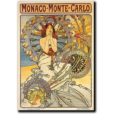 Trademark Global Alphonse Mucha Monaco Monte Carlo Canvas Art, 48 x 36