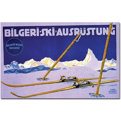 Trademark Global Carl Kunst Bilgeri Ski Ausrustung Canvas Art, 24 x 32