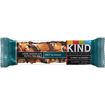 KIND Dark Chocolate Nuts & Sea Salt Bars; 1.41 oz. Bars, 12 Bars/Box