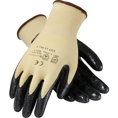 KutGard® Coated Work Gloves, Seamless Knit Cut Resistant Nitrile With Kevlar® & Lycra®, Large, 1/Pr