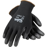 G-Tek® Coated Work Gloves, ONX Seamless Nylon Knit  With Polyurethane Coating, Large, Black, 12/Pr