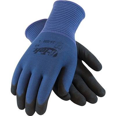 G-Tek® Coated Work Gloves, Active Grip, Seamless Nylon Knit With Nitrile Coating, XL, 12/Pr