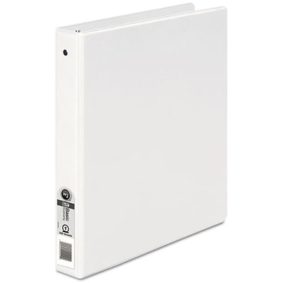 Wilson Jones® 368 Basic Round Ring Binder, 1, White
