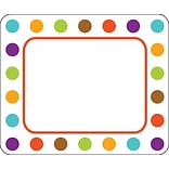 Carson-Dellosa Calypso Name Tags, Polka Dot, 40/Pack