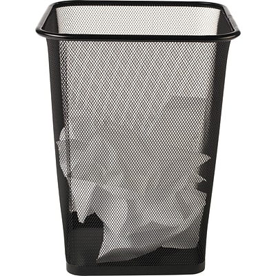 Brighton Professional™ Black Wire Mesh Square Wastebasket, 4.4 gal.