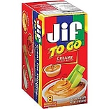 Jif® To Go™ Creamy Peanut Butter, 1.5 oz. Cups, 8 Cups/Box (5150024136)