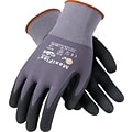 G-Tek® Coated Work Gloves; MaxiFlex® Ultimate Seamless Nylon Knit Liner, Nitrile Palm & Tip Coat, XL