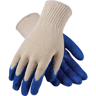 PIP Work Gloves, Seamless Cotton/Poly Knit With Latex Coating, XL, 12/Pr