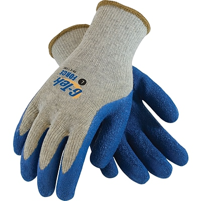 G-Tek® Coated Work Gloves, Force Seamless Cotton/Polyester Knit With Latex Coating, Medium, 12/Pr