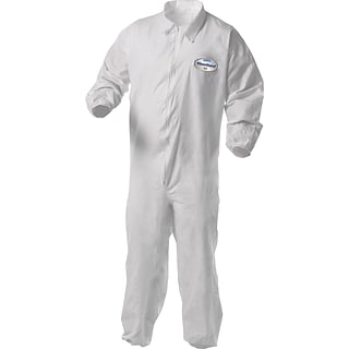 """Special Size, See Detail Below NG5OZa 35/"""" White Zip Front Coverall PolyCotton"""