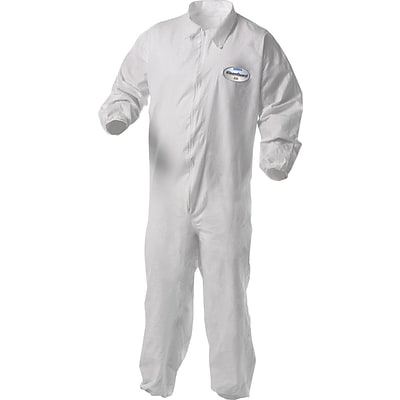 KleenGuard® A35 Shell Zipper Front Coverall With Liquid/Particles Protection; White, 2XL, 25/Ct