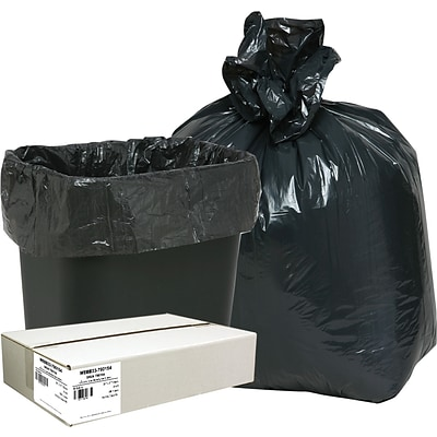 Webster Classic™ 2-Ply Trash Bags, Black, 16 Gallon, 500 Bags/Box