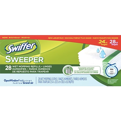 Sweeper® Wet Mopping Cloths, 28 Cloths/Box