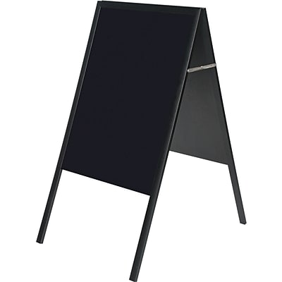 MasterVision® 21(W) x 33(H) Magnetic Wet Erase Board, Black Frame, Each
