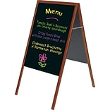 MasterVision® 21(W) x 33(H) Magnetic Wet Erase Board, Cherry Frame, Each