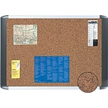 MasterVision® 24(W) x 18(H) Earth Cork Board, Silver Frame, Each
