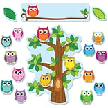 Carson-Dellosa Colorful Owls Behavior,  Bulletin Board Set