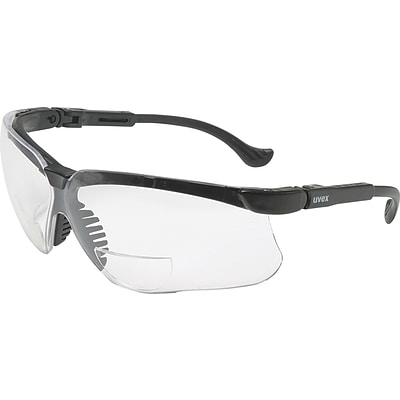 Uvex Genesis® Eyewear, Reading Magnifier Glasses, +3.0, Black Frame, Clear Lens