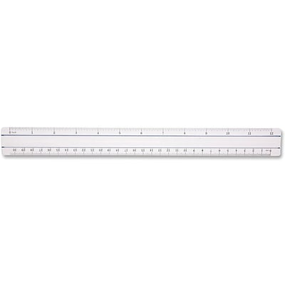 Westcott® Plastic Magnifying Ruler, 12, Clear