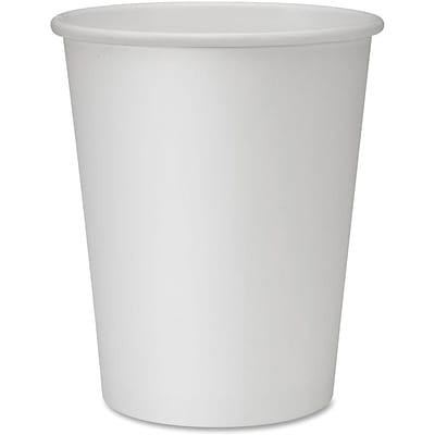 Genuine Joe Polyurethane-lined Disposable Hot Cups, White, 50/Pack
