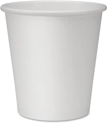 Genuine Joe Polyurethane-lined Disposable Hot Cups, White,