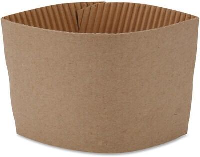Genuine Joe Protective Corrugated Cup Sleeves, Brown,