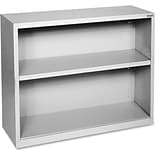 Lorell Fortress Series Bookcases, Light Gray, 2 x Shelf(ves)