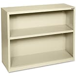Lorell Fortress Series Bookcases, Putty, 2 x Shelf(ves)