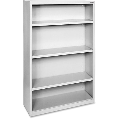 Lorell Fortress Series Bookcases, Light Gray, 4 x Shelf(ves)