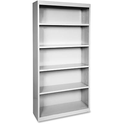 Lorell Fortress Series Bookcases, Light Gray, 5 x Shelf(ves)