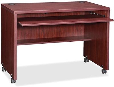 Lorell Essentials Computer Workstation, Mahogany
