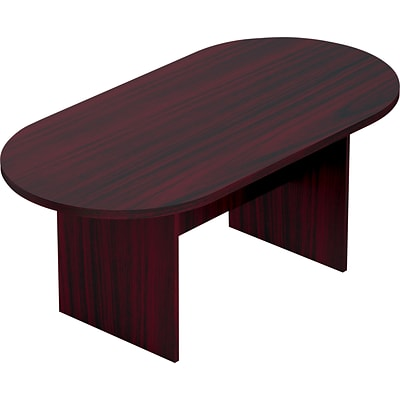 Offices To Go® Racetrack Conference Table, American Mahogany, 29 1/2H x 71W x 36D