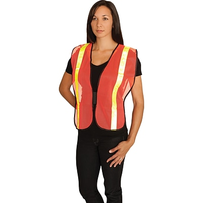 Protective Industrial Products® Safety Vests, Non-ANSI Orange Mesh With Prismatic Tape, One Size