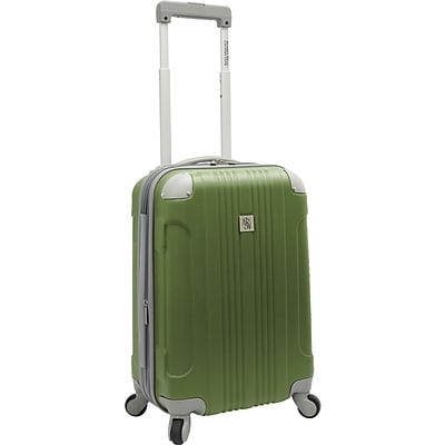 Beverly Hills Country Club BH6800 Malibu 21 Hardside Spinner Carry-On Suitcase, Green