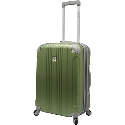 Beverly Hills Country Club BH6800 Malibu 24 Hardside Spinner Luggage Suitcase, Green