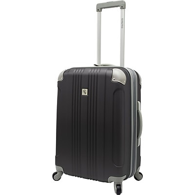 Beverly Hills Country Club BH6800 Malibu 24 Hardside Spinner Luggage Suitcase, Gray