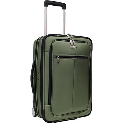 Travelers Choice® TC0424 Sienna 21 Hybrid Hard-Shell Rolling Upright Suitcase/Bag, Green