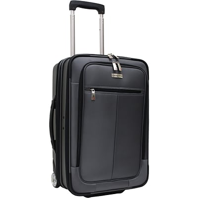 Travelers Choice® TC0424 Sienna 21 Hybrid Hard-Shell Rolling Upright Suitcase/Bag, Charcoal