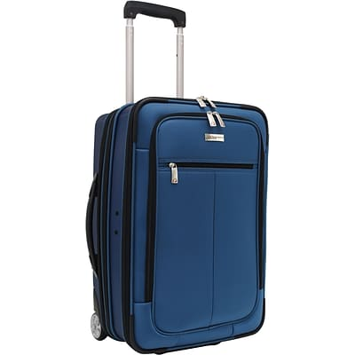 Travelers Choice® TC0424 Sienna 21 Hybrid Hard-Shell Rolling Upright Suitcase/Bag, Blue