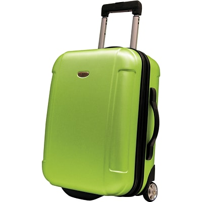 Travelers Choice® TC2400 FREEDOM 21 Hard-Shell Wheeled Upright Luggage Suitcase, Apple Green
