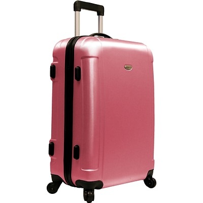 Travelers Choice® TC2400 FREEDOM 25 Hard-Shell Wheeled Upright Luggage Suitcase, Pink