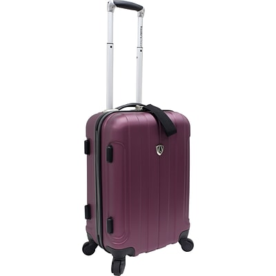 Travelers Choice® TC3800 Cambridge 20 Hardsided Carry-On Spinner Luggage Suitcase, Plum