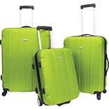 Travelers Choice® TC3900 Rome 3-Piece Hard-Shell Spin/Rolling Luggage Set, Green