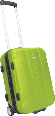 "Traveler's Choice® TC3900 Rome 21"" Hard-Shell Carry-On Upright Luggage Suitcase, Green"