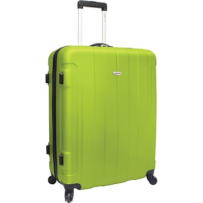 Travelers Choice® TC3900 Rome 29 Hard-Shell Spinner Upright Luggage Suitcase, Green