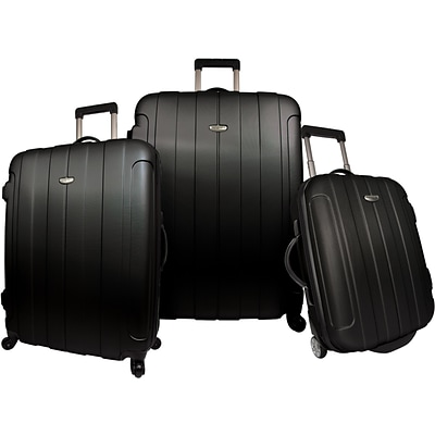 Travelers Choice® TC3900 Rome 3-Piece Hard-Shell Spin/Rolling Luggage Set, Black