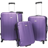 Travelers Choice® TC3900 Rome 3-Piece Hard-Shell Spin/Rolling Luggage Set, Purple