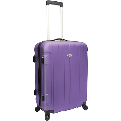Travelers Choice® TC3900 Rome 25 Hard-Shell Spinner Upright Luggage Suitcase, Purple